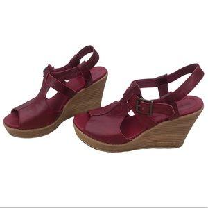 Timberland platform wedge sandals